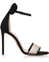 Oscar Tiye - Minnie Black Suede High Heel Sandals - Lyst