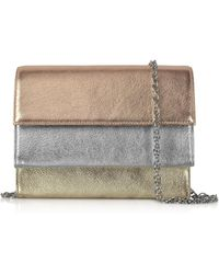 Rodo - Tricolor Laminated Leather Clutch - Lyst
