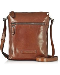 The Bridge - Kallio Brown Leather Men's Crossbody Bag - Lyst