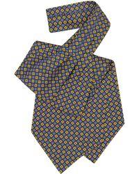 FORZIERI - Multicolor Floral Print Silk Ascot - Lyst