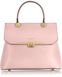 Le Parmentier - Atlanta Candy Pink Leather Top Handle Satchel Bag W/shoulder Strap - Lyst