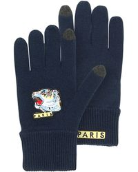 KENZO - Iconic Tiger Wool Men's Gloves - Lyst