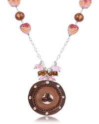 Dolci Gioie - Sterling Silver Chocolate Cake Necklace - Lyst