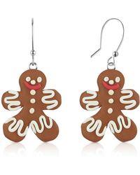 Dolci Gioie - Gingerbread Man Earrings - Lyst