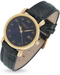 Raymond Weil - Blue Dial 18k Gold And Croco Leather Dress Watch - Lyst