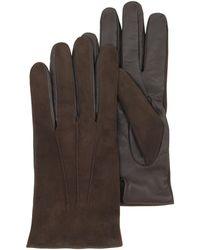 FORZIERI - Touch Screen Herrenhandschuhe aus braunem Leder - Lyst