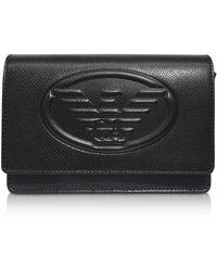 Emporio Armani - Embossed Logo Crossbody Bag - Lyst