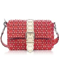 RED Valentino - Strawberry/ivory Studded Leather Shoulder Bag - Lyst