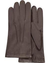 FORZIERI - Dunkelbraune Herrenhandschuhe aus italienischem Leder - Lyst
