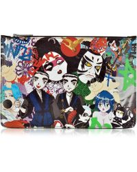 DSquared² - Multicolor Manga Print Flat Clutch - Lyst