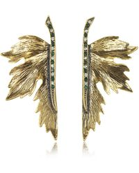 Alcozer & J - Nymph Goldtone Brass Earrings - Lyst