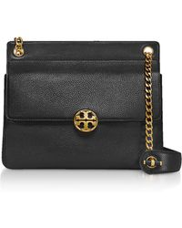 Tory Burch - Pebbled Leather Chelsea Flap Shoulder Bag - Lyst