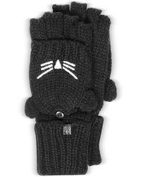 Karl Lagerfeld - Choupette Black Wool Blend Gloves - Lyst