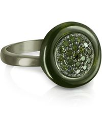 Azhar | Olive Green Cubic Zirconia And Sterling Silver Ring | Lyst