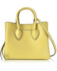 Coccinelle - Farisa Pebbled Leather Mini Tote Bag - Lyst