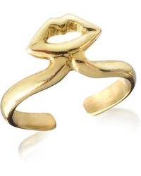 Bernard Delettrez - Bronze Midi Ring W/mouth - Lyst