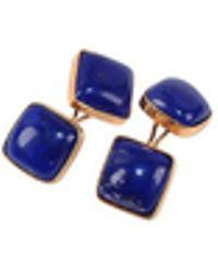 FORZIERI - Vintage Style Lapis Lazuli Cufflinks - Lyst
