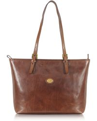 The Bridge - Story Donna Large Brown Leather Tote - Lyst
