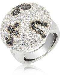 Azhar - Black And White Fashion Ring - Lyst