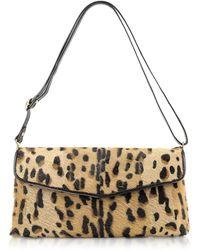 Fontanelli - Calfhair Leopard Print Shoulder Bag - Lyst