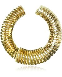 Pluma - Gold Fishbone Necklace - Lyst