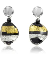 Antica Murrina | Moretta Pastel Glass Beads W/24kt Gold And Silver Leaf Earrings | Lyst