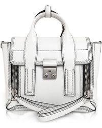 3.1 Phillip Lim - Optic White Leather Pashli Mini Satchel - Lyst