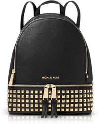 Michael Kors - Rhea Medium Embellished Leather Backpack - Lyst