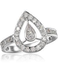 FORZIERI - 0.65 Ct Diamond Drop 18k Gold Ring - Lyst