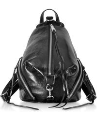 Rebecca Minkoff - Black Nappa Leather Medium Julian Backpack - Lyst