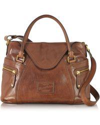The Bridge - Women's Brown Leather Handbag - Lyst
