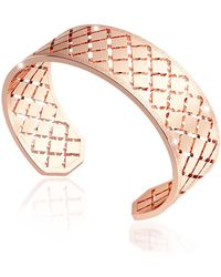 Rebecca - Melrose Rose Gold Over Bronze Bangle Bracelet - Lyst