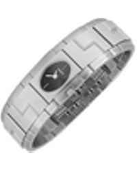 Versace - Sapho - Stainless Steel Oval Dial Watch - Lyst