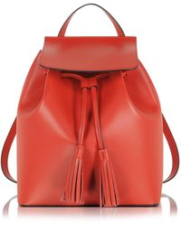 Le Parmentier | Red Leather Backpack | Lyst