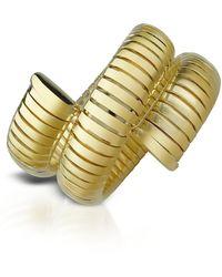 AZ Collection - Gold Plated Winding Snake Stretch Bracelet - Lyst