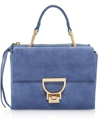 Coccinelle - Arlettis Suede Mini Bag W/shoulder Strap - Lyst