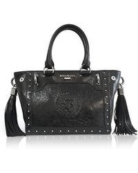 Balmain - Black Leather Top Handle Mini Tote Bag - Lyst