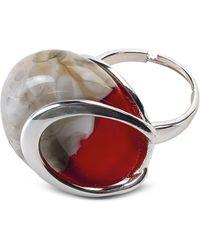Antica Murrina - Oriental - Red Murano Glass Ring W/crackling Effect - Lyst