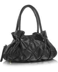 Fontanelli - Pleated Nappa Leather Satchel Bag - Lyst