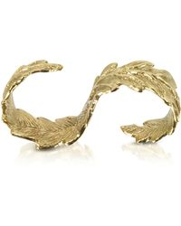 Bernard Delettrez - Two Fingers Bronze Leafy Ring - Lyst
