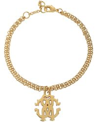 Roberto Cavalli | Rc Icon Golden Metal Bracelet | Lyst