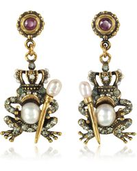 Alcozer & J - The Frog Prince Earrings - Lyst