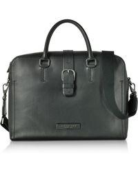 f40c230d8f0 The Bridge - Black Leather Double Handle Briefcase W detachable Shoulder  Strap - Lyst