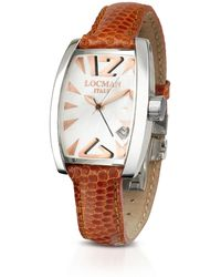LOCMAN Panorama Mother-of-pearl Dial Dress Watch - Brown