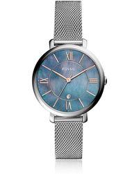 Fossil - Women's Jacqueline Stainless Steel Mesh Bracelet Watch 36mm - Lyst