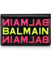 Balmain - Logo Clutch - Lyst