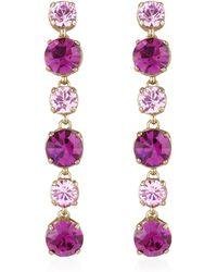 AZ Collection - Pink & Amethyst Drop Earrings - Lyst
