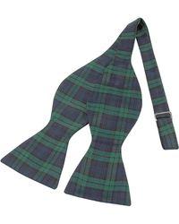 FORZIERI - Pajarita Seda A Cuadros escoceses Verde y Azul - Lyst