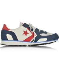 Converse - Auckland Racer Distressed Ox Vaporous Gary/athletic Navy Men's Trainers - Lyst