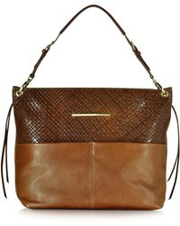 Francesco Biasia - Creola Large Woven Leather Shoulder Bag - Lyst